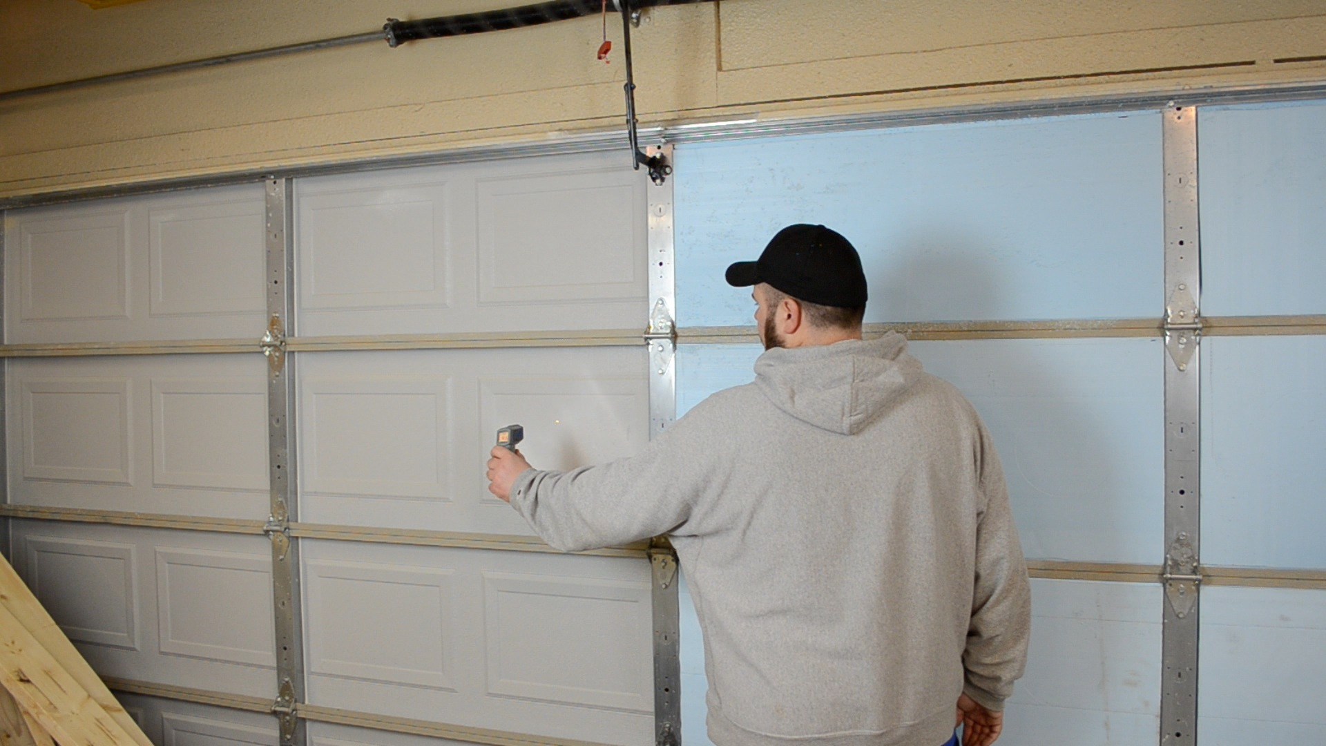 garage door braceHow to Insulate a Garage Door ep30