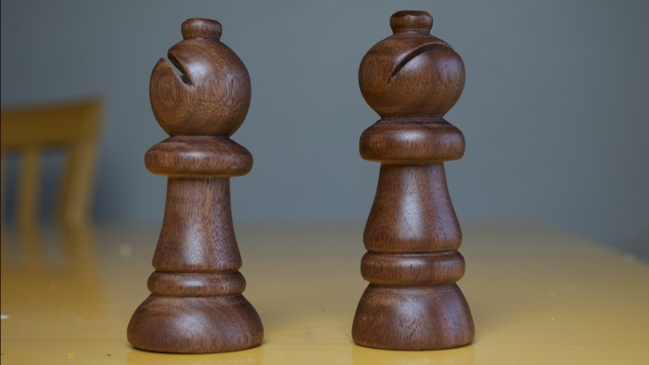 drill press turned chess piece 10