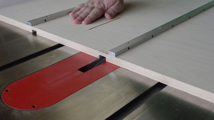 table saw sled 18