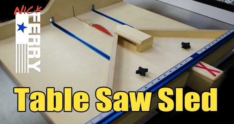 187 Table Saw Cross Cut Amp Miter Sled In One Ep58