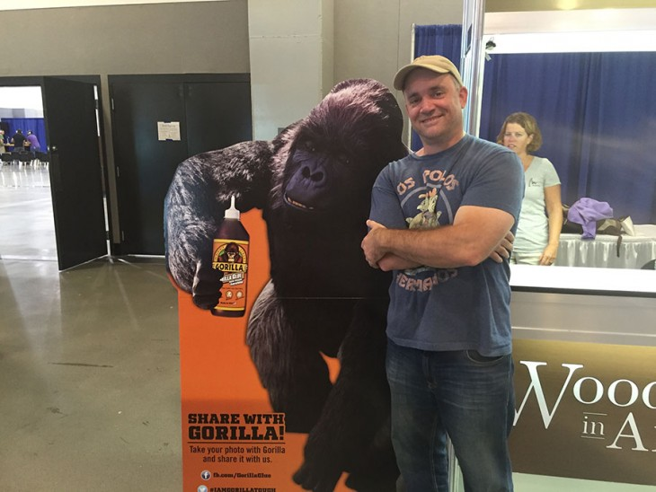 Brian Grella With A Gorilla