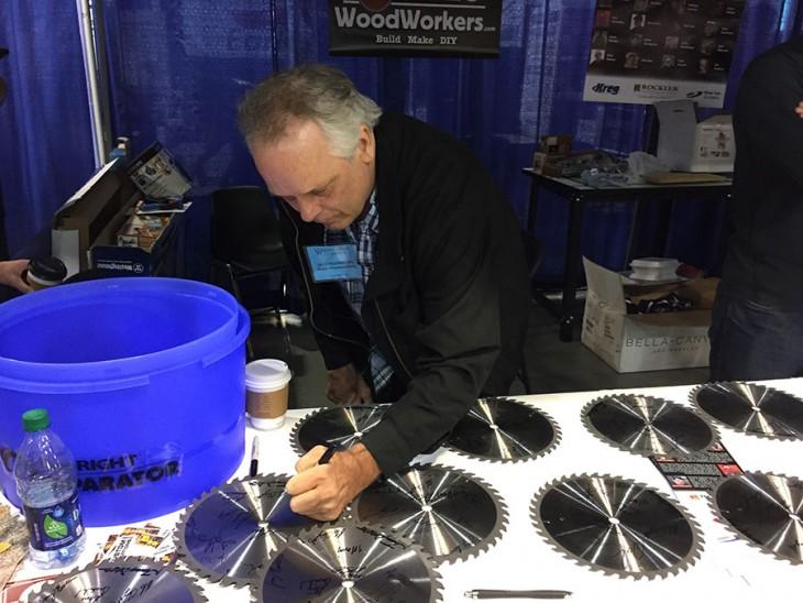 Jack Houweling Signing Some Blades
