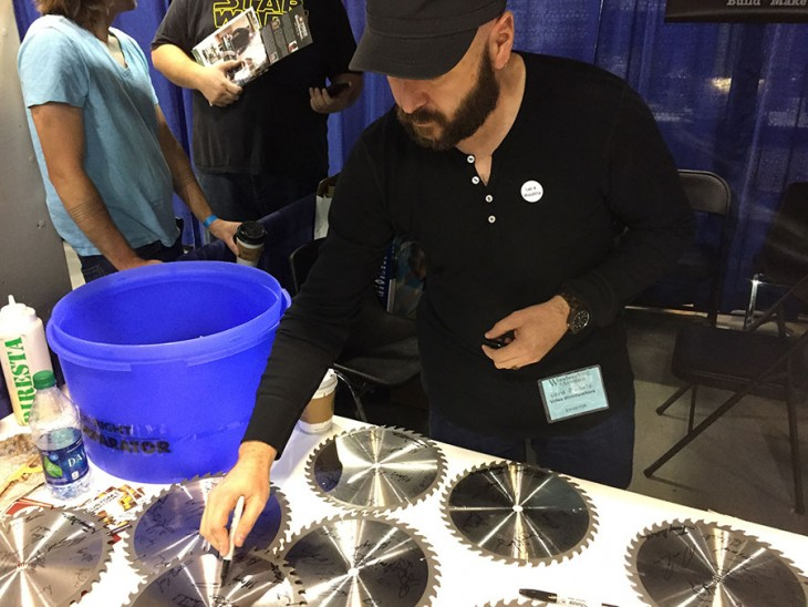 David Picciuto Signing Some Blades