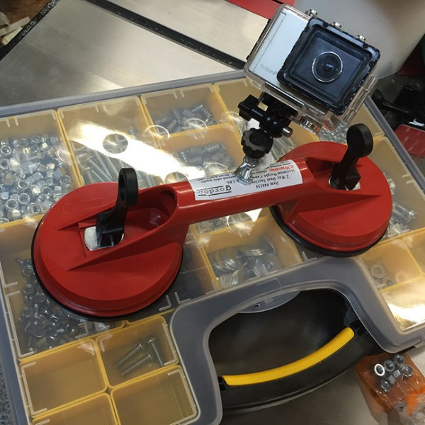 The action camera suction cup mount I made while on Periscope