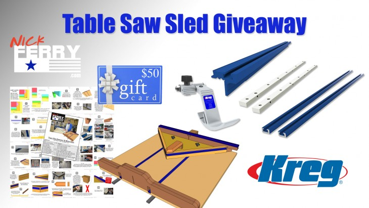Table saw sled giveaway for Table saw sled
