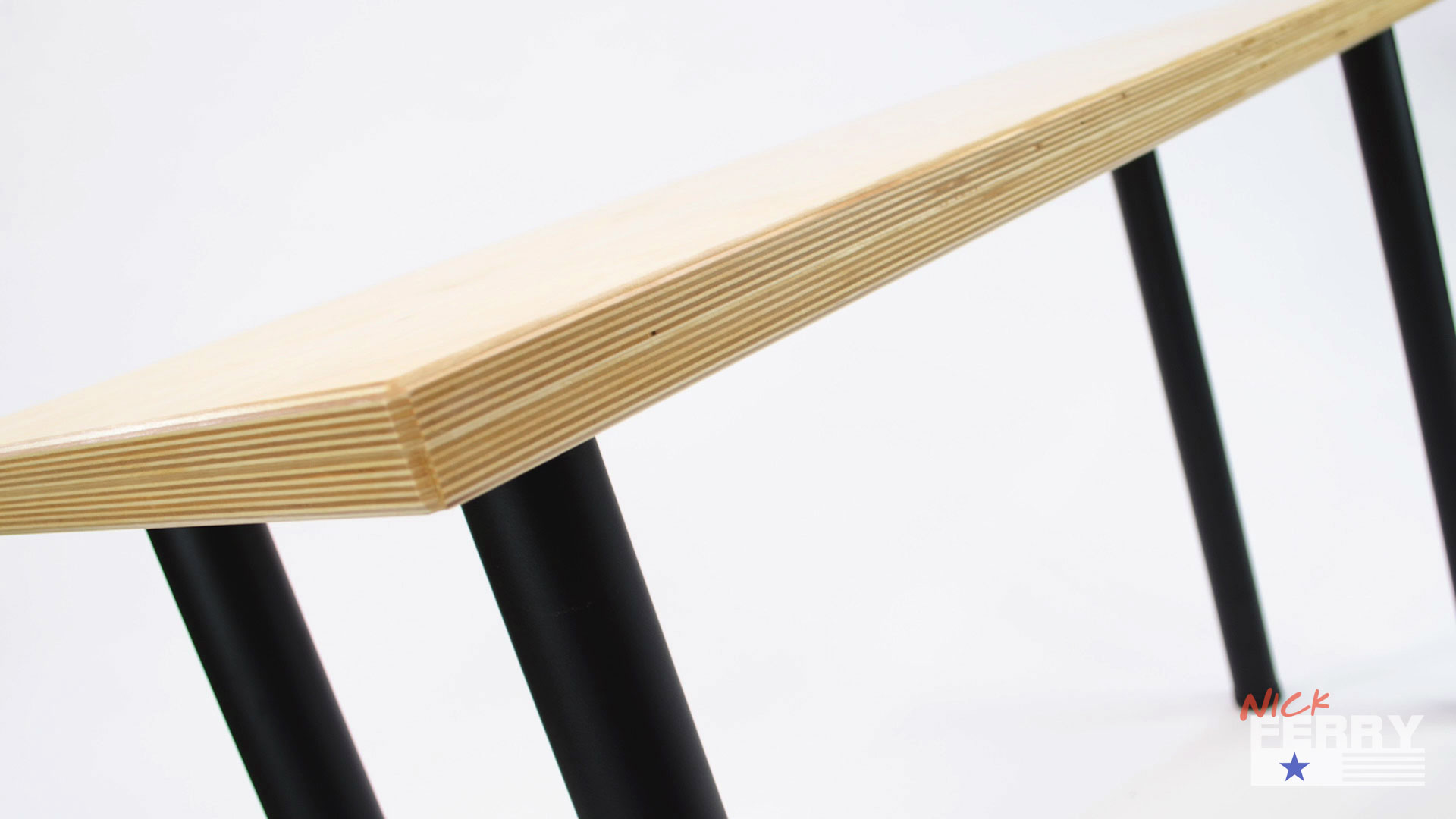 Make A Simple Office Desk _ Baltic Birch37