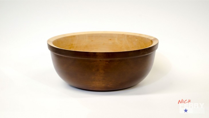 turned maple bowl 4