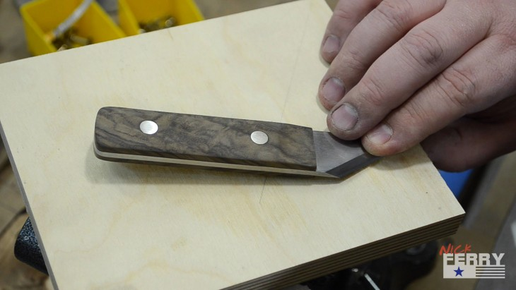 Walnut Marking Knife53